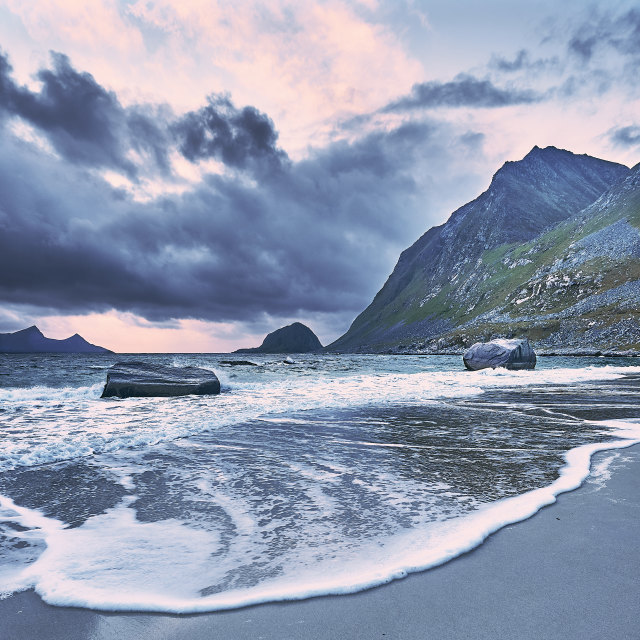 """Haukland Beach - No. 3"" stock image"
