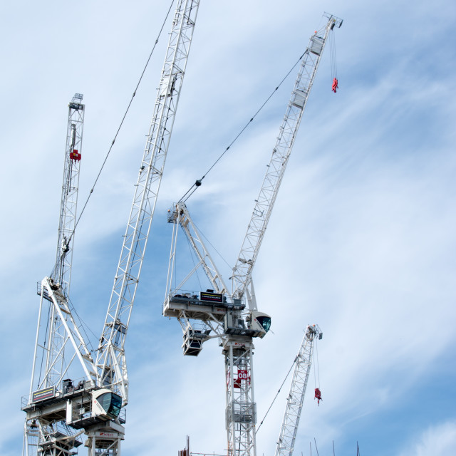 """Construction Cranes"" stock image"