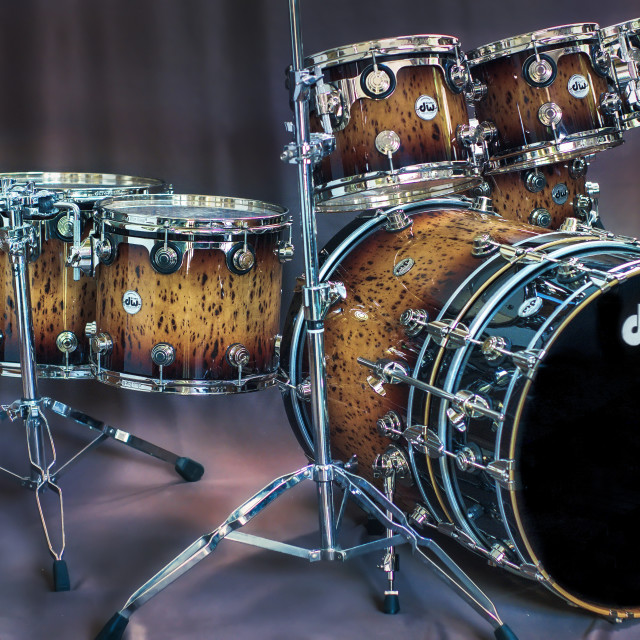 """""""DW Collectors Exotic drumset"""" stock image"""