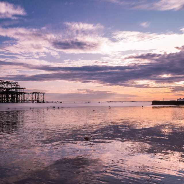"""Brighton At Sunset"" stock image"