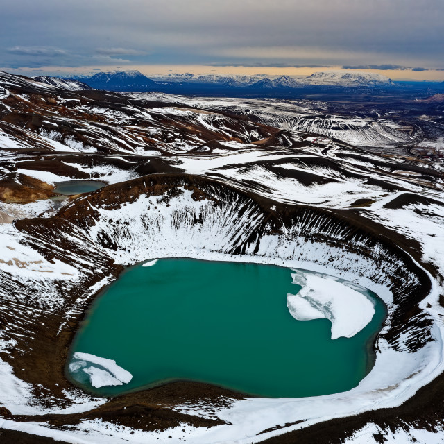 """""""Víti crater"""" stock image"""