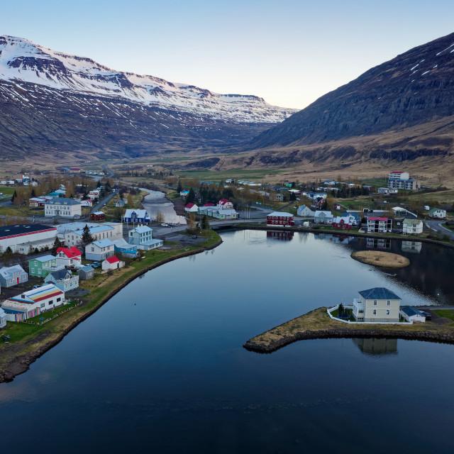 """""""Seyðisfjörður"""" stock image"""