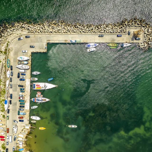 """""""the seacoast and the marina"""" stock image"""
