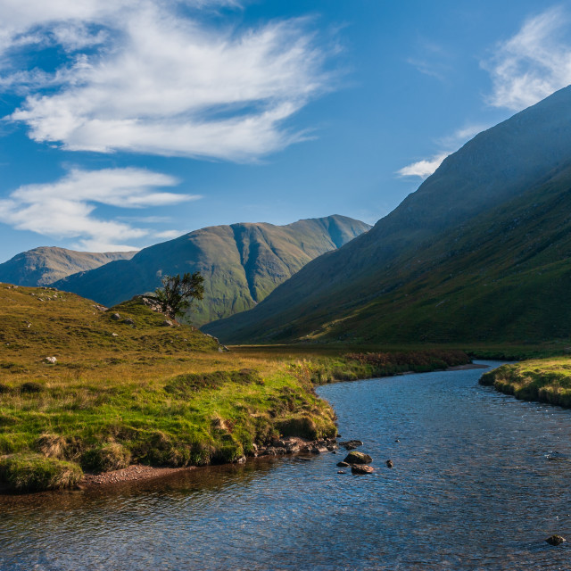 """The River Croe Glenlicht Kintail"" stock image"