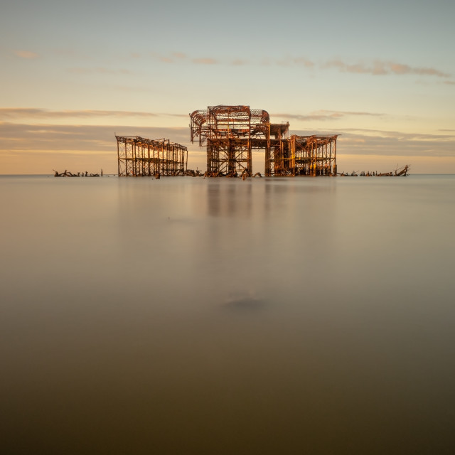 """West Pier Dawn"" stock image"