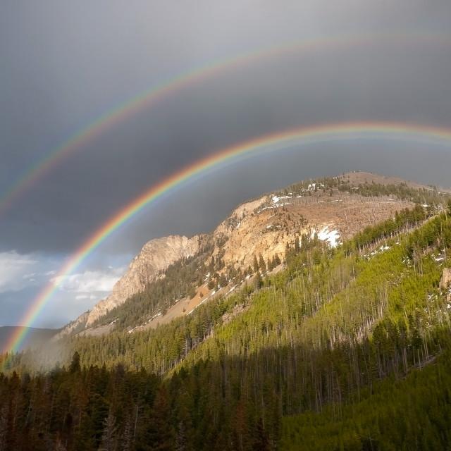 """Bunson Peak, Yellowstone."" stock image"