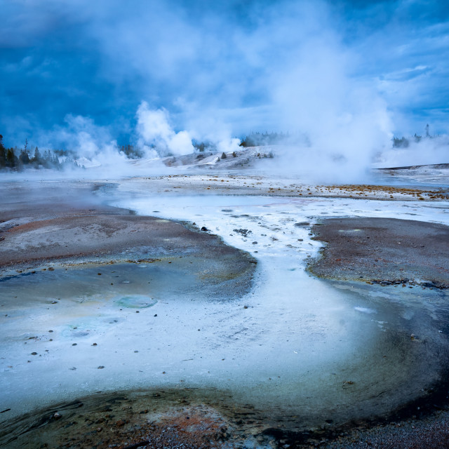 """Norris Gyser Basin, Yellowstone National Park."" stock image"