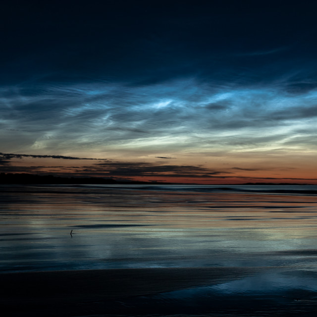 """Noctilucent Clouds"" stock image"