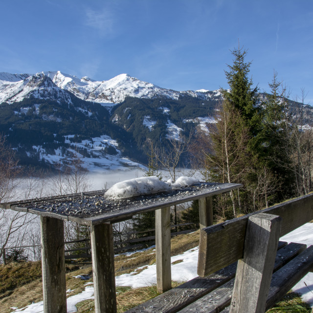 """""""areal view of gastein county of salzburg in austria"""" stock image"""