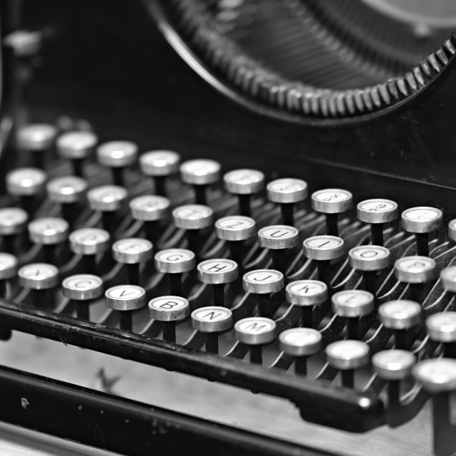 """Nice old vintage czech typewriter"" stock image"
