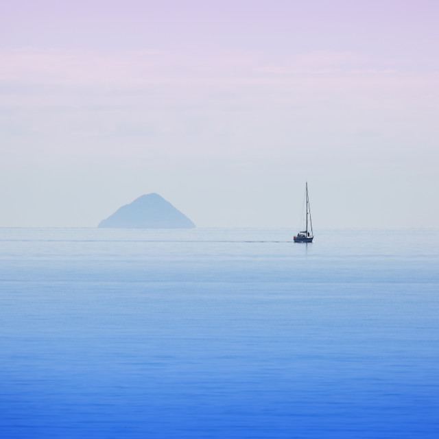 """Sailing The Ayrshire Coast"" stock image"