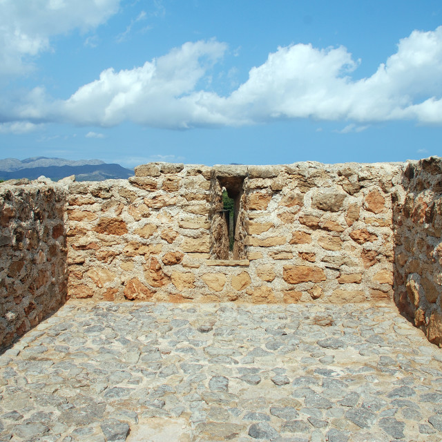 """""""Medieval defense wall, Alcudia"""" stock image"""