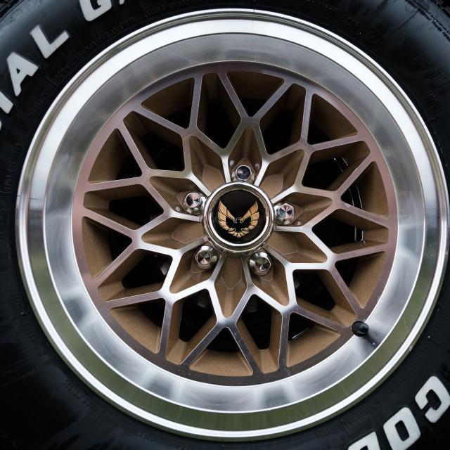 """Pontiac wheel"" stock image"