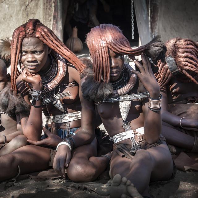 """Himba portrait"" stock image"