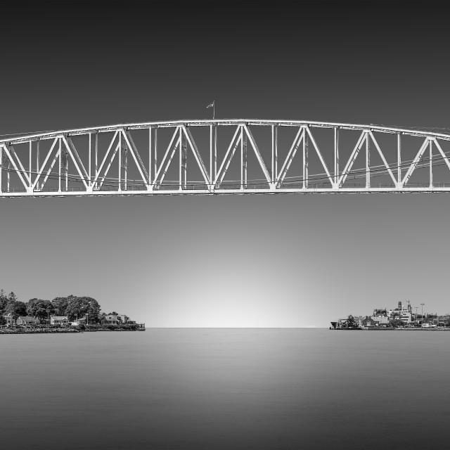 """""""Cape Cod Railroad Bridge"""" stock image"""