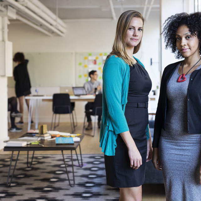 """Portrait of confident multi-ethnic businesswomen at office"" stock image"
