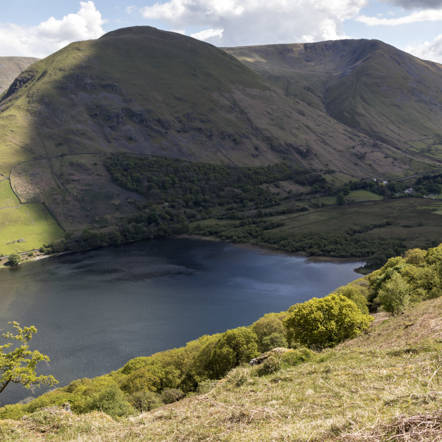 """""""Brothers Water with Hartsop Dodd and Caudale Head Beyond, Lake D"""" stock image"""