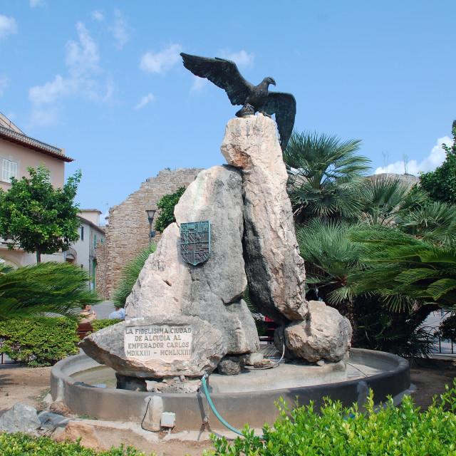 """""""Roman eagle sculpture, Alcudia"""" stock image"""