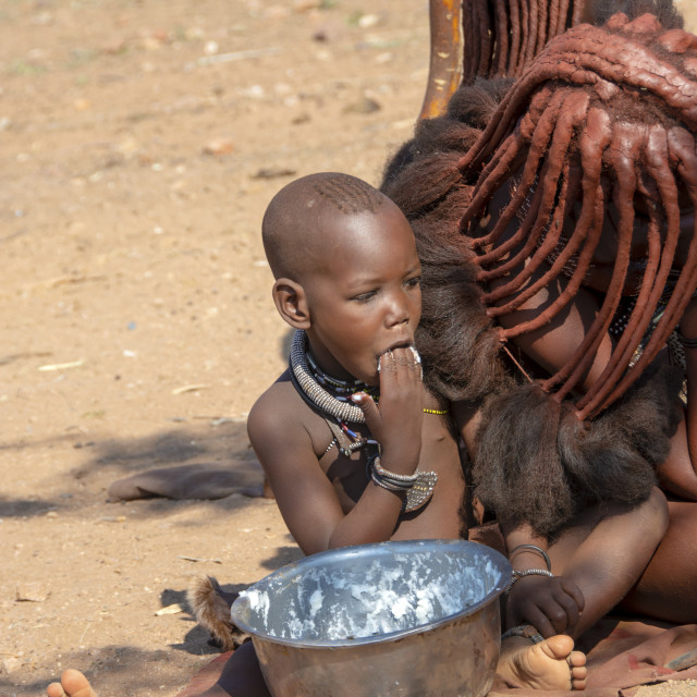 """""""Himba lifestyle"""" stock image"""