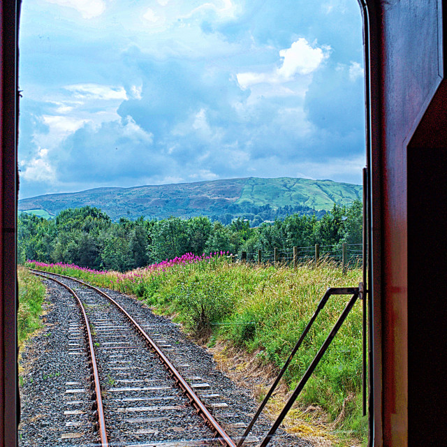 """""""View from a train carriage"""" stock image"""