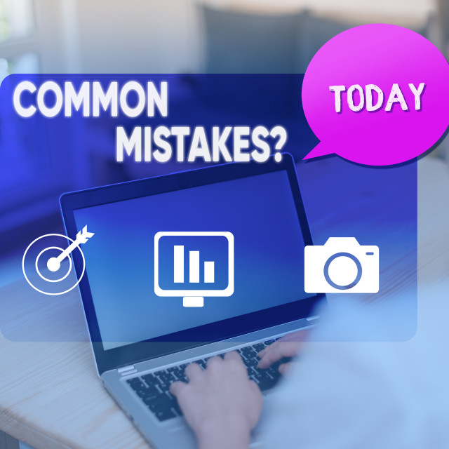 """""""Word writing text Common Mistakes question. Business concept for repeat act..."""" stock image"""