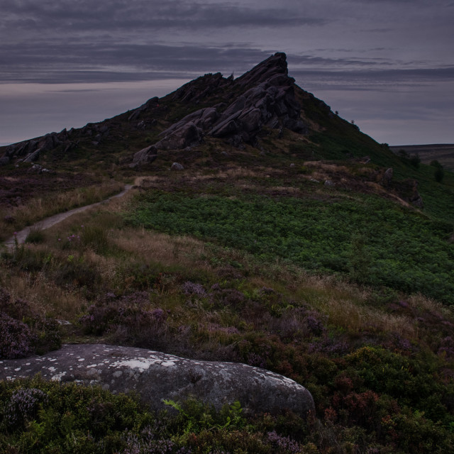 """Ramshaw Rocks after the sun went down"" stock image"