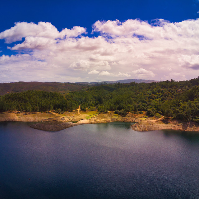 """""""Aerial Lake View From Above"""" stock image"""