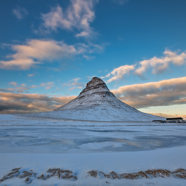 """Kirkjufell ""Church Mountain"" at Sunset"" stock image"