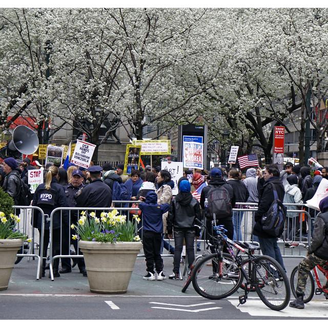 """American Unrest and Civil Disturbances"" stock image"