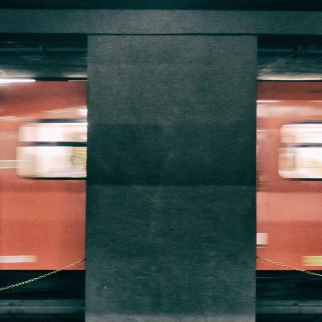 """""""Subway Blur in Milan"""" stock image"""