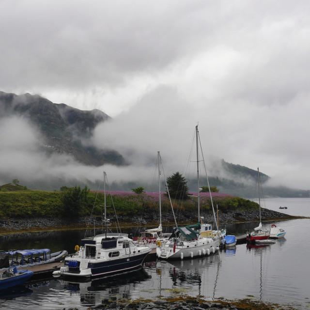 """Small Cove in an Irish Fishing Village"" stock image"