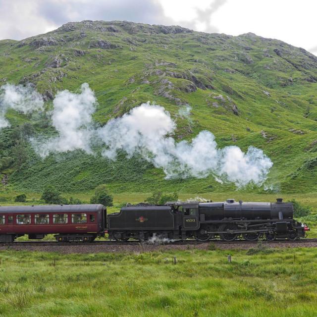 """""""Steam Train in Scotland"""" stock image"""