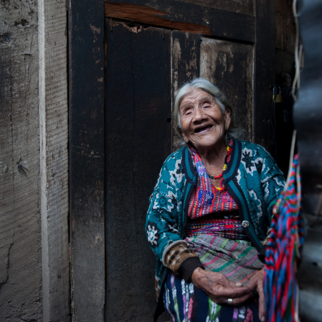 """Maya indigenous elderly woman in Guatemala"" stock image"