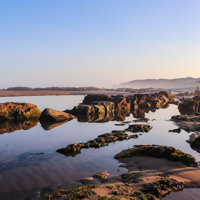 """""""Low Tide at Sunrise"""" stock image"""