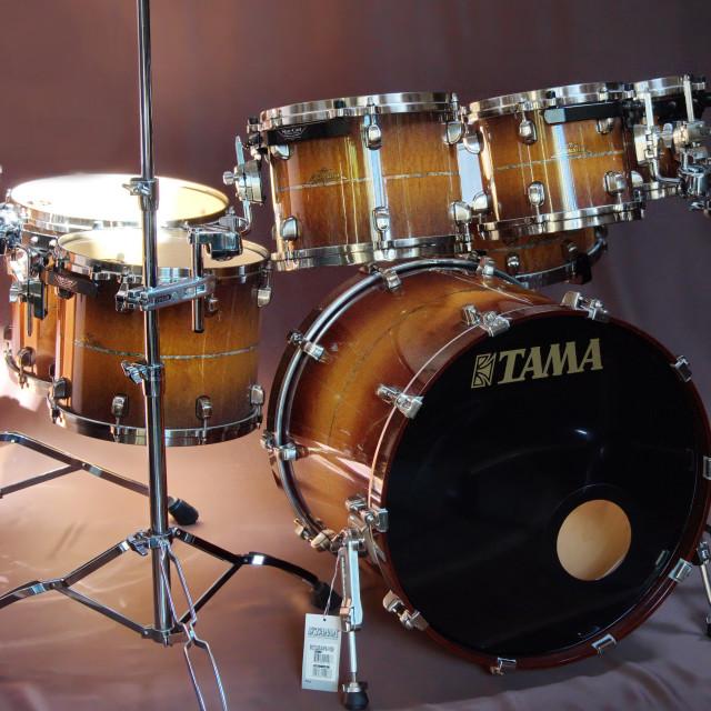 """Tama Starclassic Exotix Maple Limited Edition drumset"" stock image"
