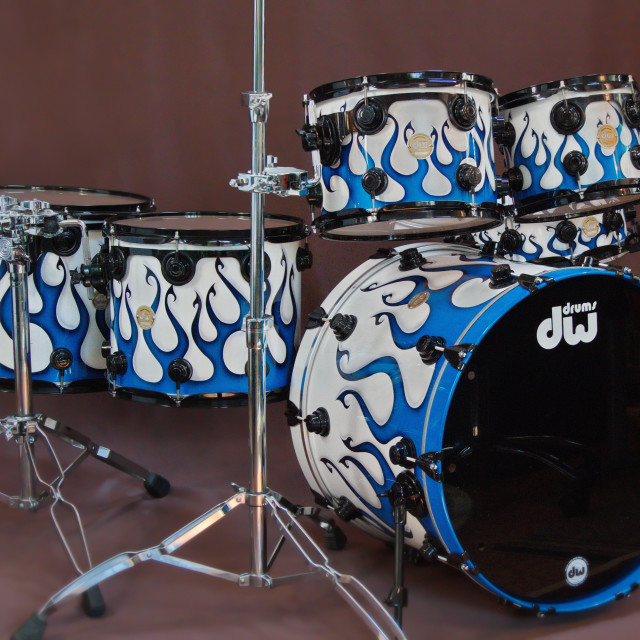"""""""DW Collectors Graphics drumset."""" stock image"""