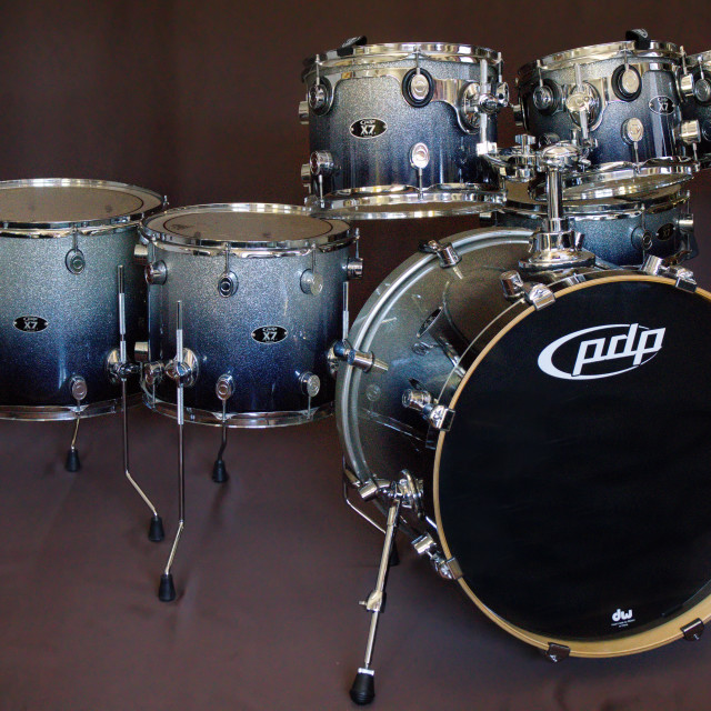 """""""DW Pacific PDP X7 drumset."""" stock image"""