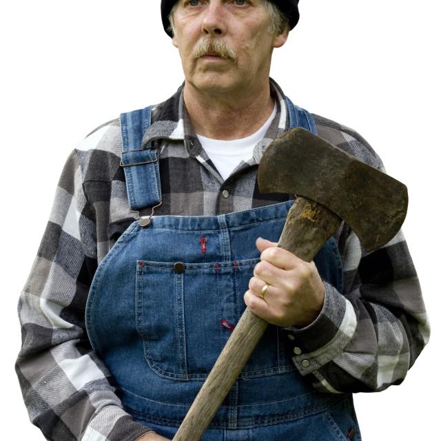 """lumberjack portrait isolated"" stock image"