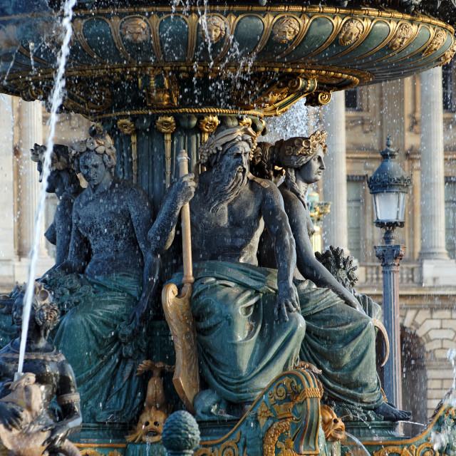 """""""Fountain in Concorde square"""" stock image"""