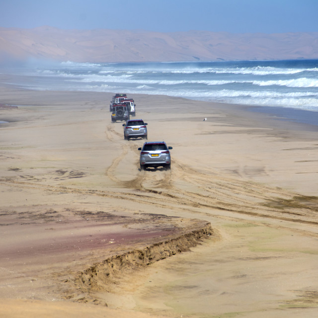 """""""the namib drive to sandwich harbour"""" stock image"""