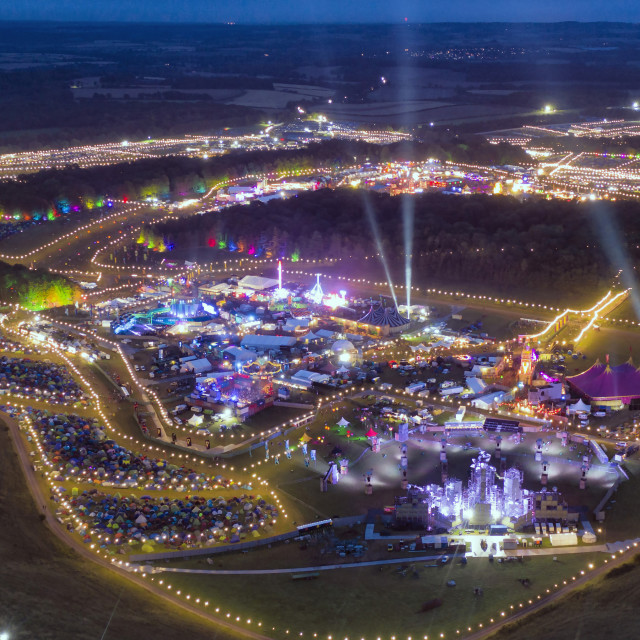 """""""Boomtown Fair in Winchester."""" stock image"""