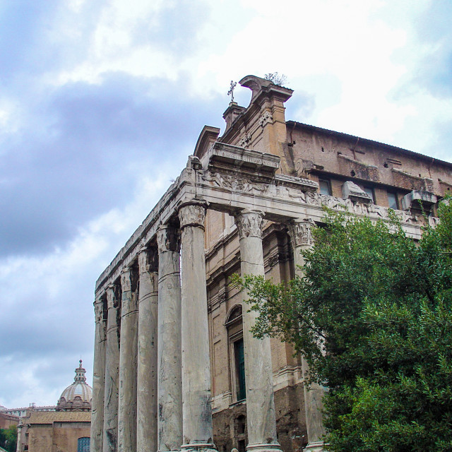 """""""Ruins In the Old City of Rome Italy"""" stock image"""