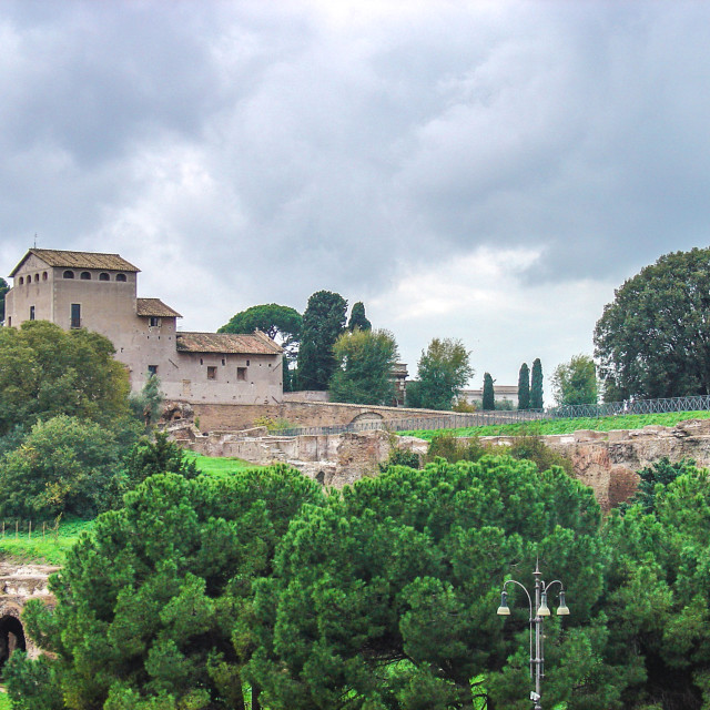 """""""Traditional Church Panormama From the Forum Area of Rome Italy"""" stock image"""