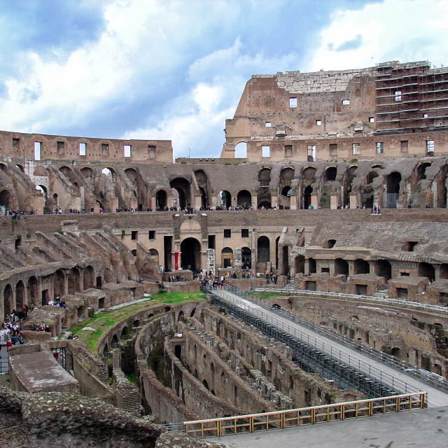 """""""Coliseum of Rome And the Gladiator Quarters Below"""" stock image"""