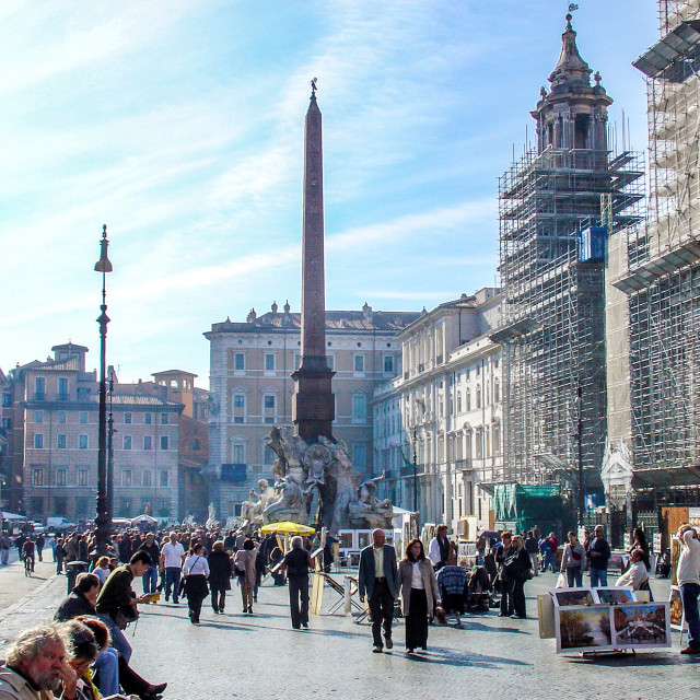 """""""Street View Of the Piazza Navarone In Rome Italy"""" stock image"""