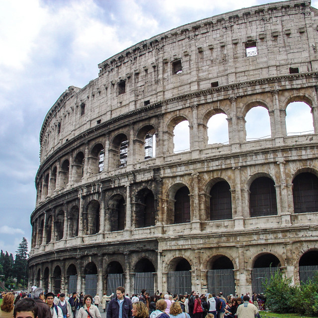"""""""View Of the Ancient Coliseum of Rome"""" stock image"""