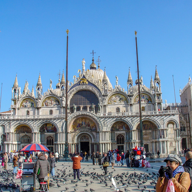 """""""Piazza San Marco or St Marks Square in Venice"""" stock image"""