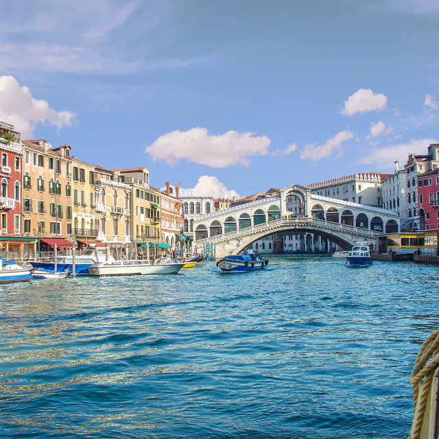 """""""The Grand Canal And Bridge Venice Italy"""" stock image"""