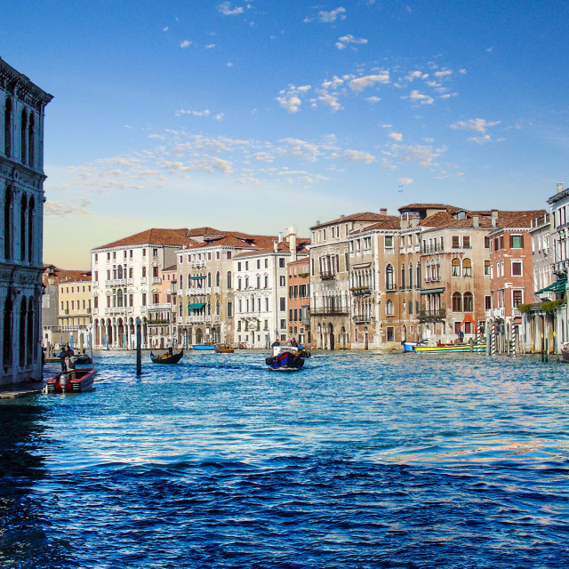 """""""The Grand Canal Hotels Villas and Boats of Venice"""" stock image"""