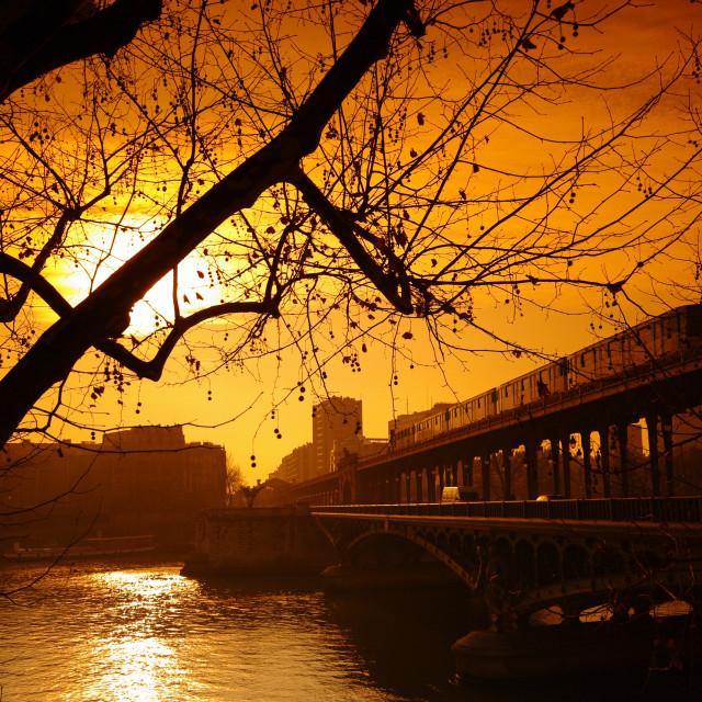 """""""Bir Hakeim bridge"""" stock image"""